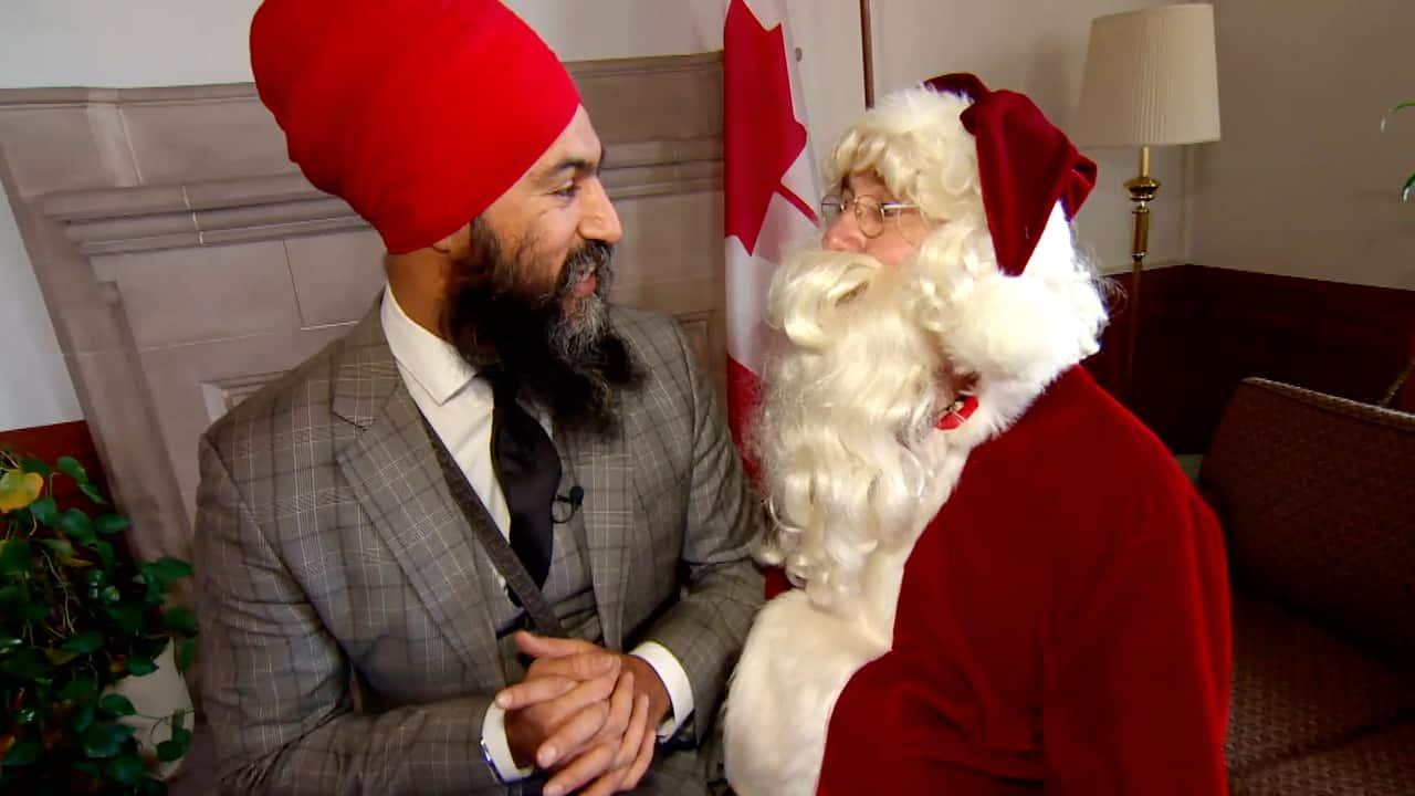 Santa Visits Parliament Hill