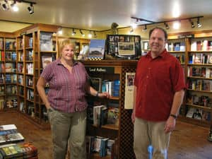 Danny and Lucy at Brome Lake Books.JPG