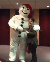 Micheline with Bonhomme Carnaval.jpg