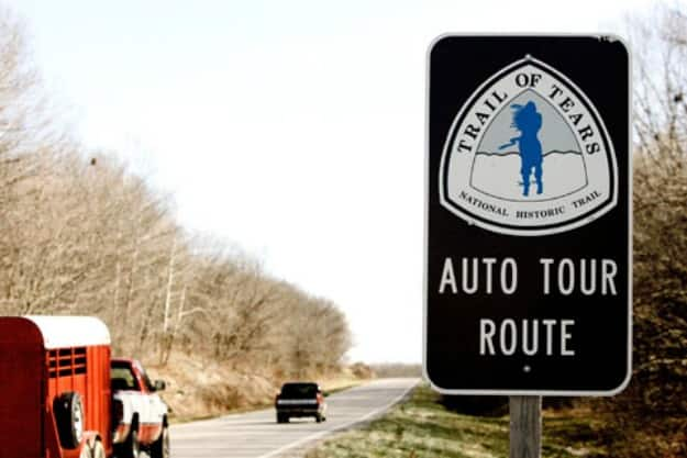 Cars travel along Illinois 146 near Anna, Ill. on the Trail of Tears Auto Tour Route. (AP Photo/James A. Finley)