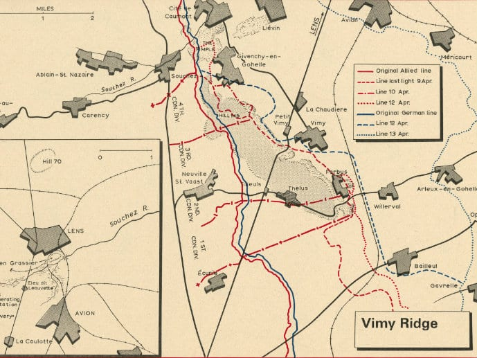 Map Of France Vimy.Cbc Archives