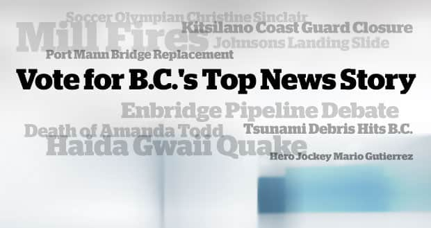 Vote for B.C.'s top news story