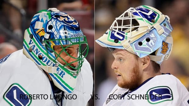 Luongo and Schnieder battle for top spot with Vancouver Canucks