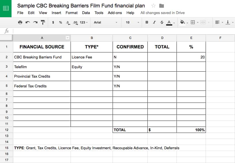cbc breaking barriers film fund guidelines
