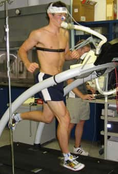 George Grey at the University of Calgary doing a VO2 Max test- the ...
