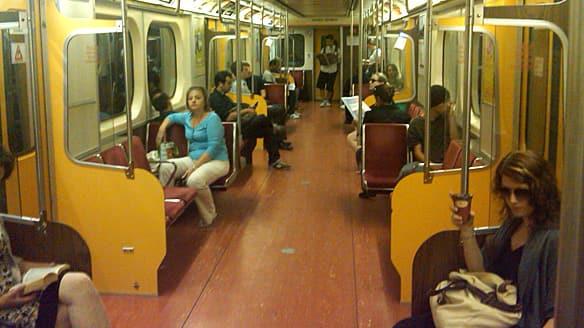 Empty TTC train during rush hour