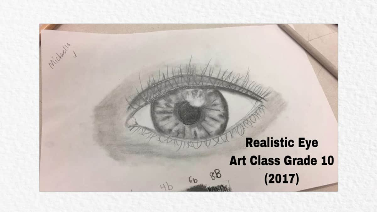 Drawing of the human eye, Grade 10