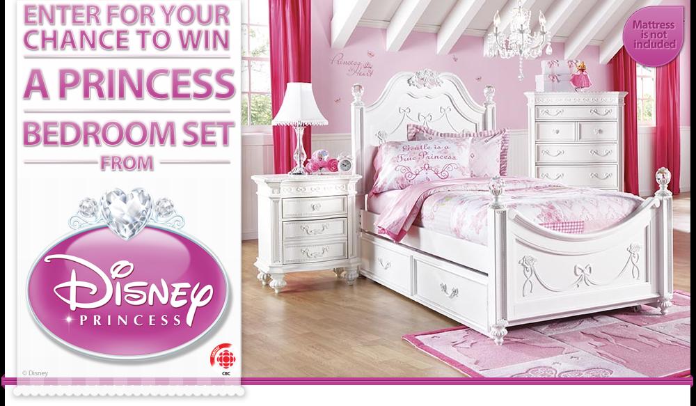 of a disney princess themed bedroom set including a disney princess