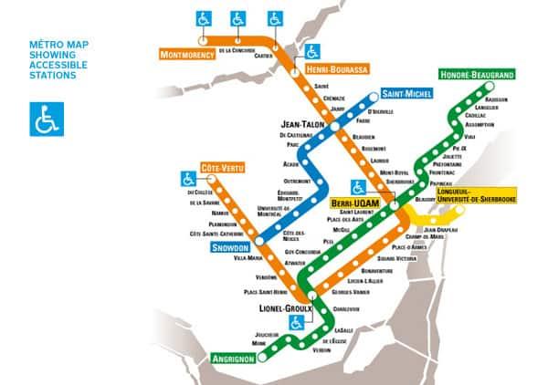 Stcum Metro Map.Daybreak Montreal