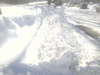 snowed in sidewalk