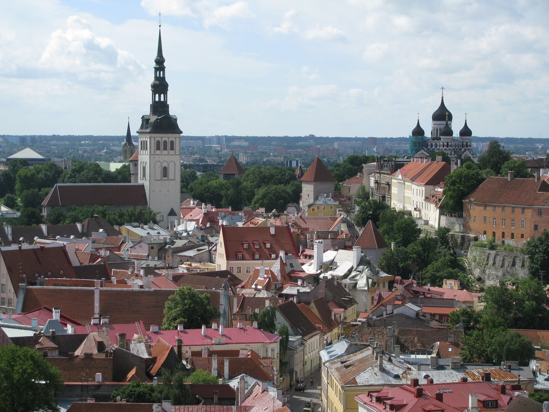 Tallinn from above the rooftops... photos Karen Percy.