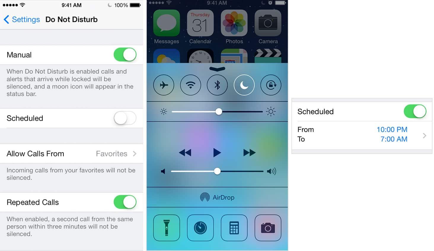 Do Not Disturb on iOS