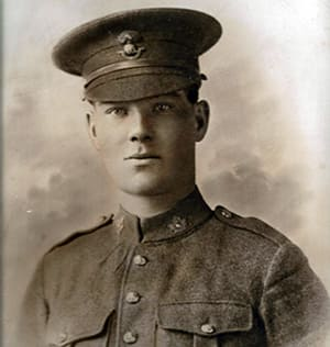 Pte. William Simms of Canada's 78th Battalion died in the Battle of Amiens in France on Aug. 11, 1918. <br/>Photo: Rodger McLaughlin