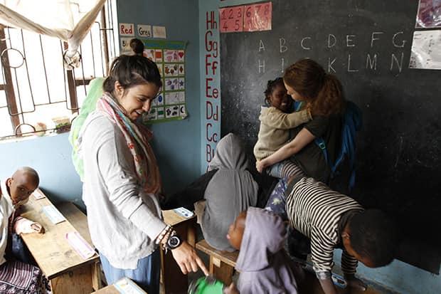 teaching children in Africa