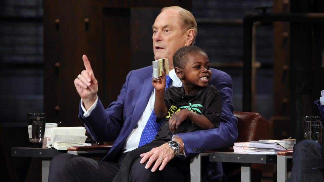 Jim Treliving and David Wikkerink during Screamin' Brothers pitch