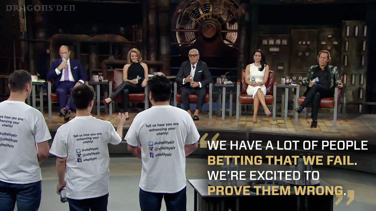 Vitality Air pitches on Season 11 of Dragons' Den.