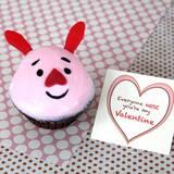 Piglet's Valentine Cupcakes
