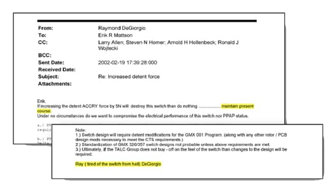 Ray DeGiorgio's email to Delph approving production of GM's faulty ignition switch