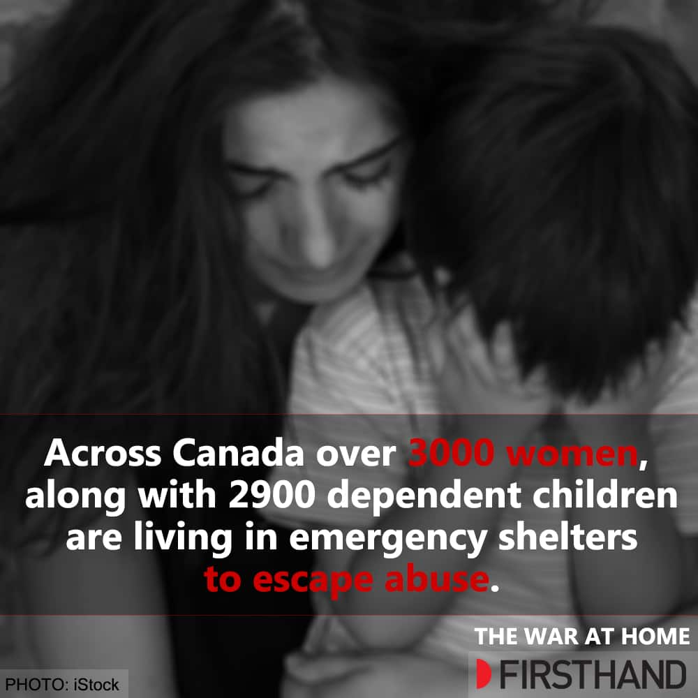 •	Across Canada, over 3,000 women along with their dependent 2,900 children are living in an emergency shelter to escape abuse