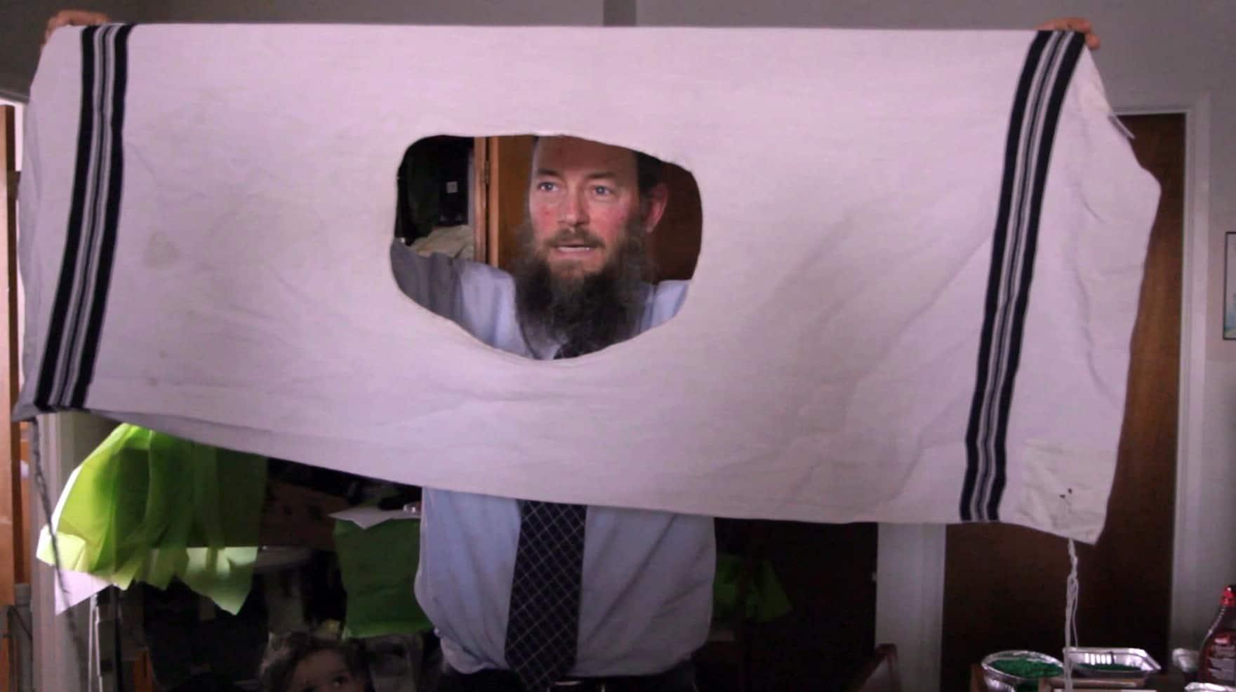 Sex through a hole in a sheet