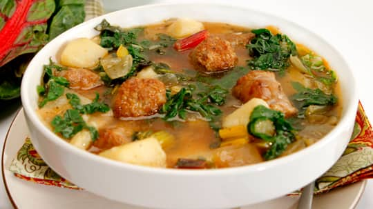 it hot, use hot Italian sausage. Spinach can substitute for the Swiss ...