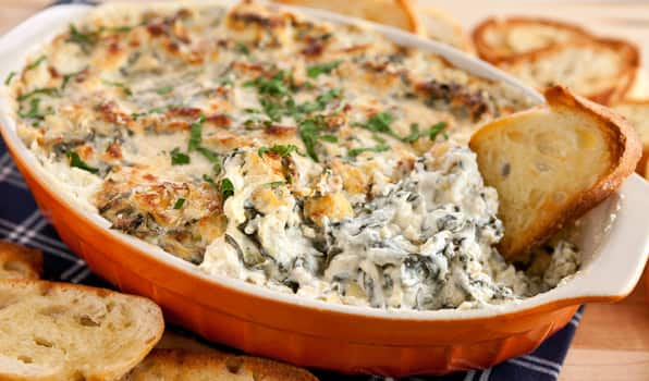 baked spinach artichoke dip recipe baked spinach amp artichoke dip cbc 11890