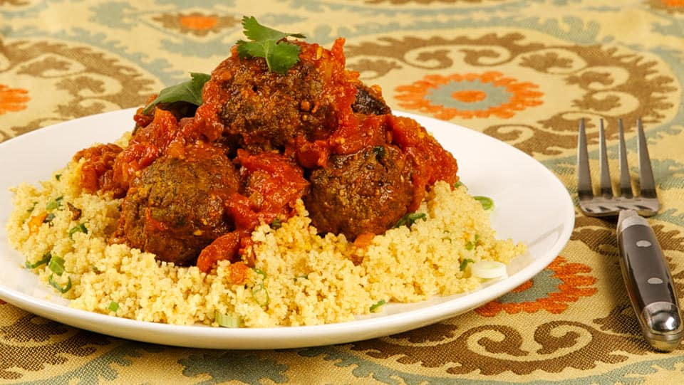 Moroccan spiced meatballs in spicy tomato sauce cbc life moroccan spiced meatballs in spicy tomato sauce forumfinder Gallery