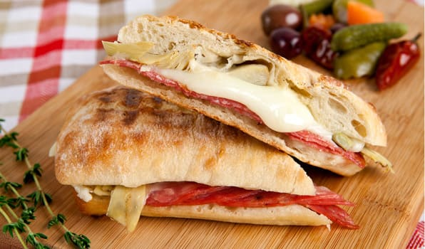 Recipe Salami And Artichoke Panini Cbc Life