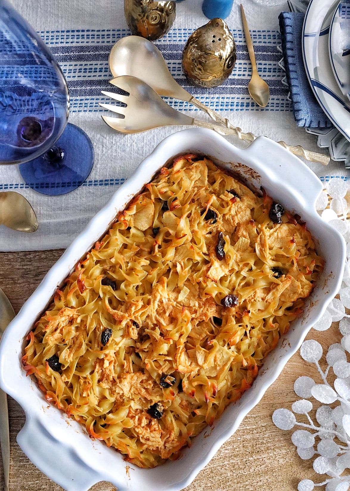 Recipe: Spy Apple Noodle Kugel with Dried Cherries