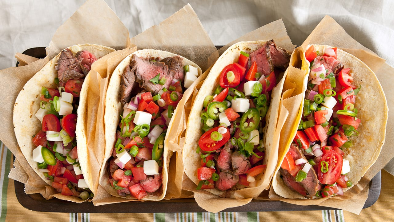 Sweet & Spicy Steak Tacos