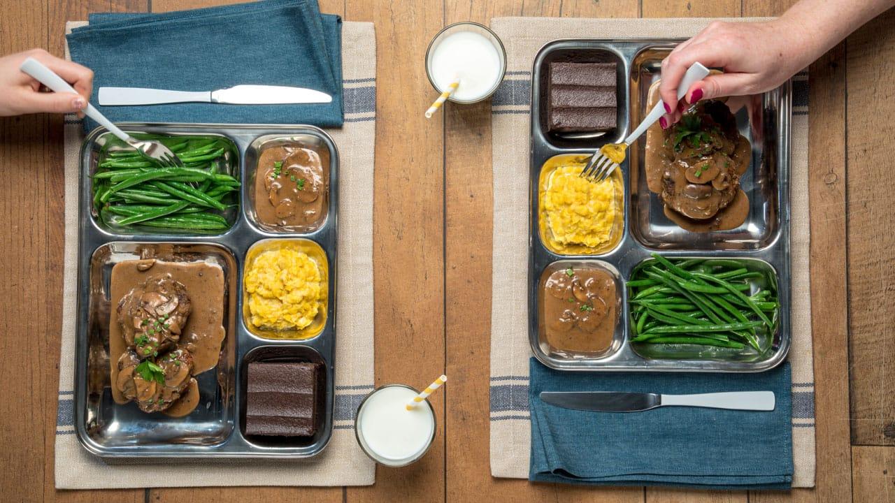 Recipe: Salisbury Steak TV Dinner
