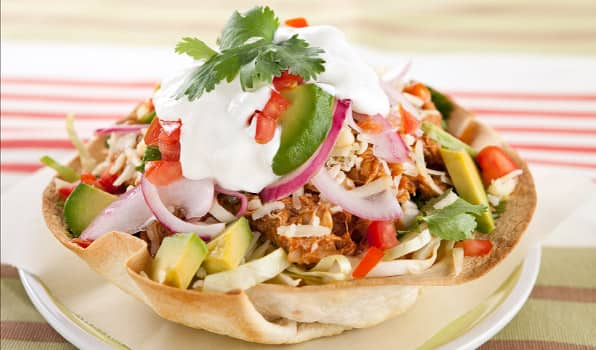 how to cook tortilla bowls