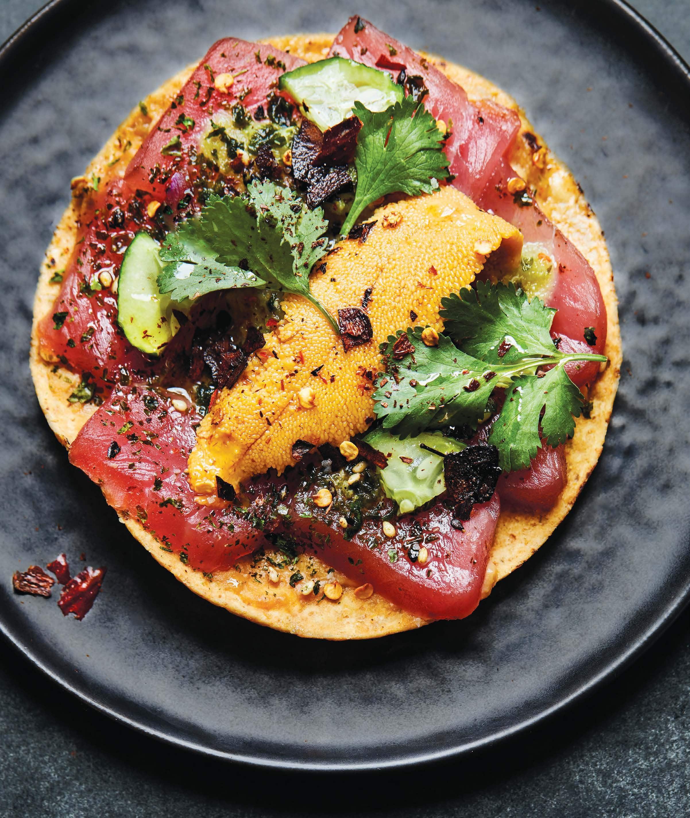 Recipe: Tuna Poke and Sea Urchin Tostadas