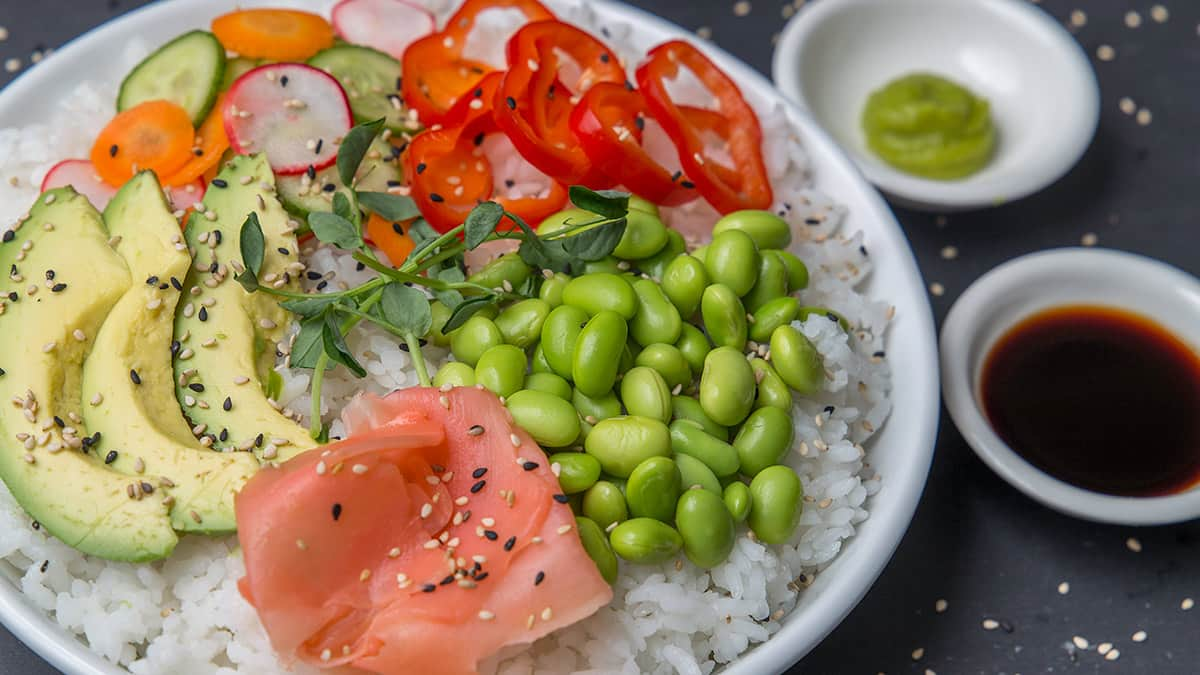 Recipe: Vegetarian Sushi Rice Bowls