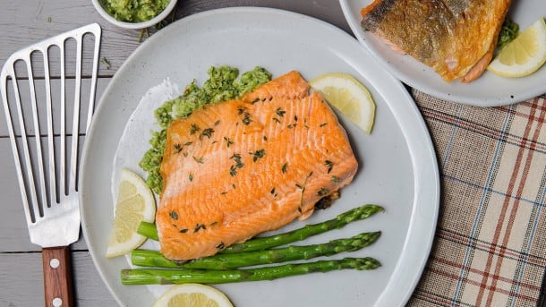 Recipe: Pan-Fried Arctic Char with Pea Pesto