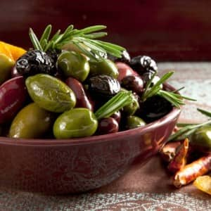 Recipe: Warm Mixed Olives with Orange and Rosemary