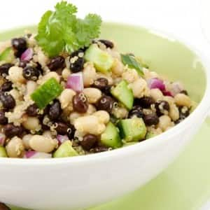 Black and White Bean and Quinoa Salad