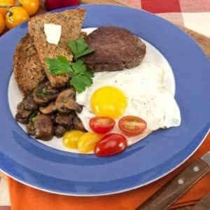 Dad's Steak and Sunny-Side Up Eggs