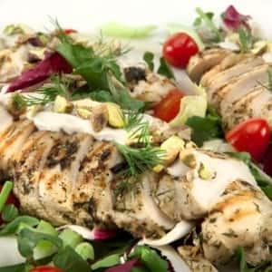 Middle Eastern Chicken Breast Salad