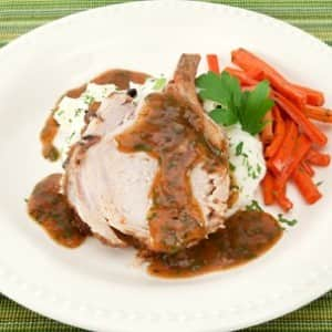 Pork Roast in Onion Gravy