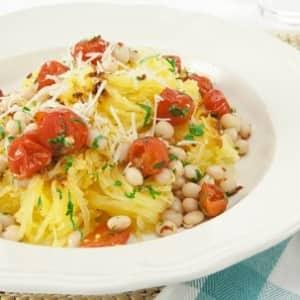 Spaghetti Squash with Roasted Tomatoes