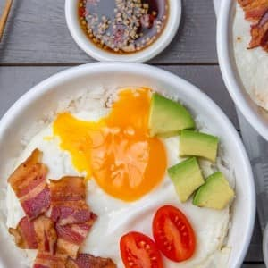 Recipe: Bacon and Egg Rice Bowls