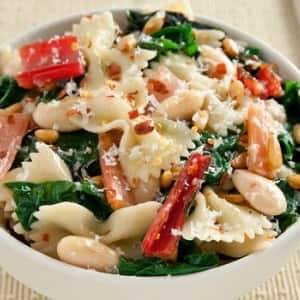 Recipe: Farfalle with Beans and Swiss Chard