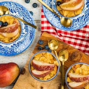 Recipe: Maple Sourdough Bread Pudding with Pear Caramel