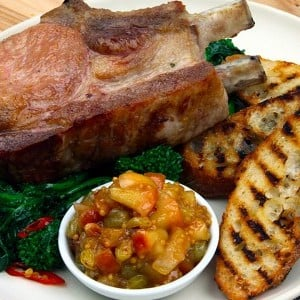 Recipe: Oven-Baked Pork Chops with Apple Mostarda