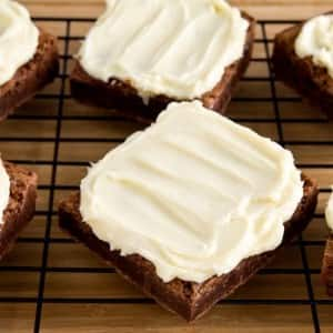 Recipe: Fudgy Brownies with Cream Cheese Frosting