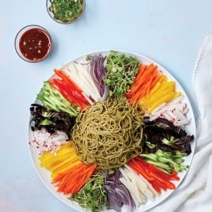 Recipe: Buckwheat Noodles and Assorted Vegetables with Gochujang Vinaigrette