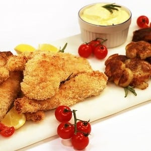 Recipe: Buttermilk Marinated Chicken Fingers with Smashed Potatoes