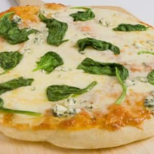 Canadian Three-Cheese Spinach Pizza
