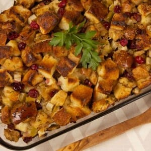 Cranberry Egg Bread Stuffing